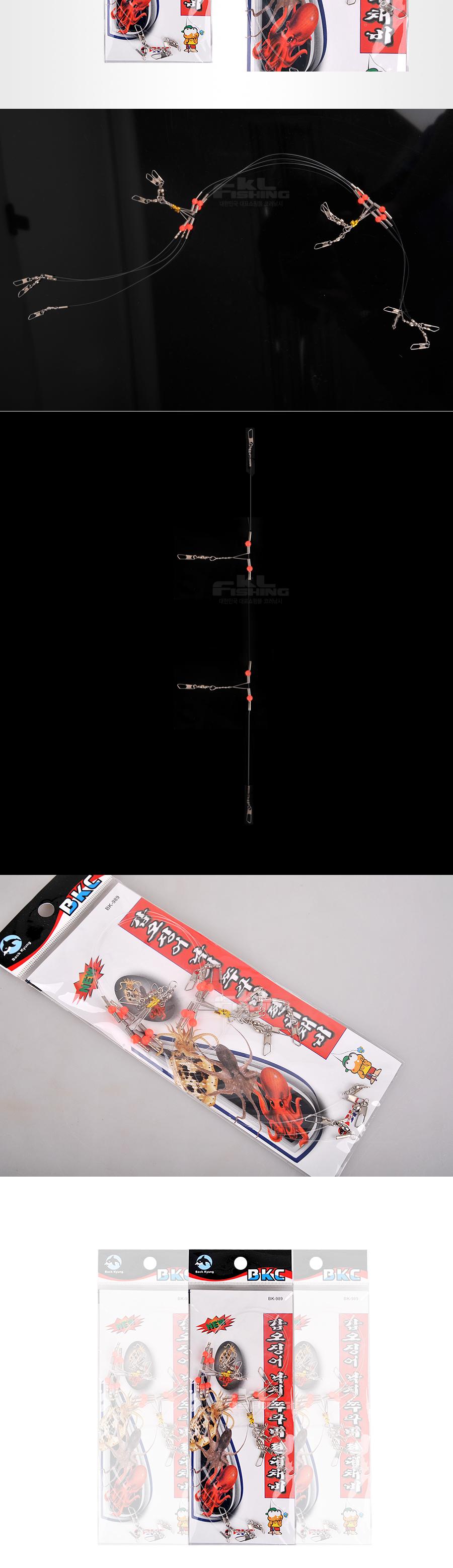 오징어낚시 쭈꾸미낚시 쭈꾸미채비 오징어채비 백경 갑오징어 쭈꾸미 편대채비 BK-989