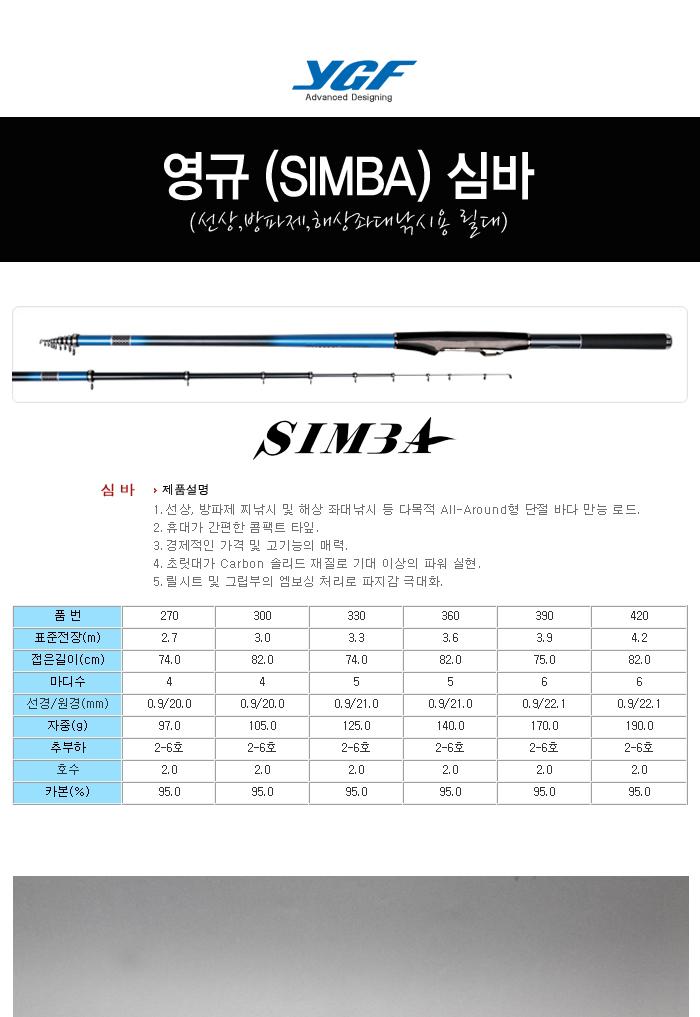 영규 (SIMBA) 심바 (선상,방파제,해상좌대낚시용 릴대) 올라운드 생활낚시