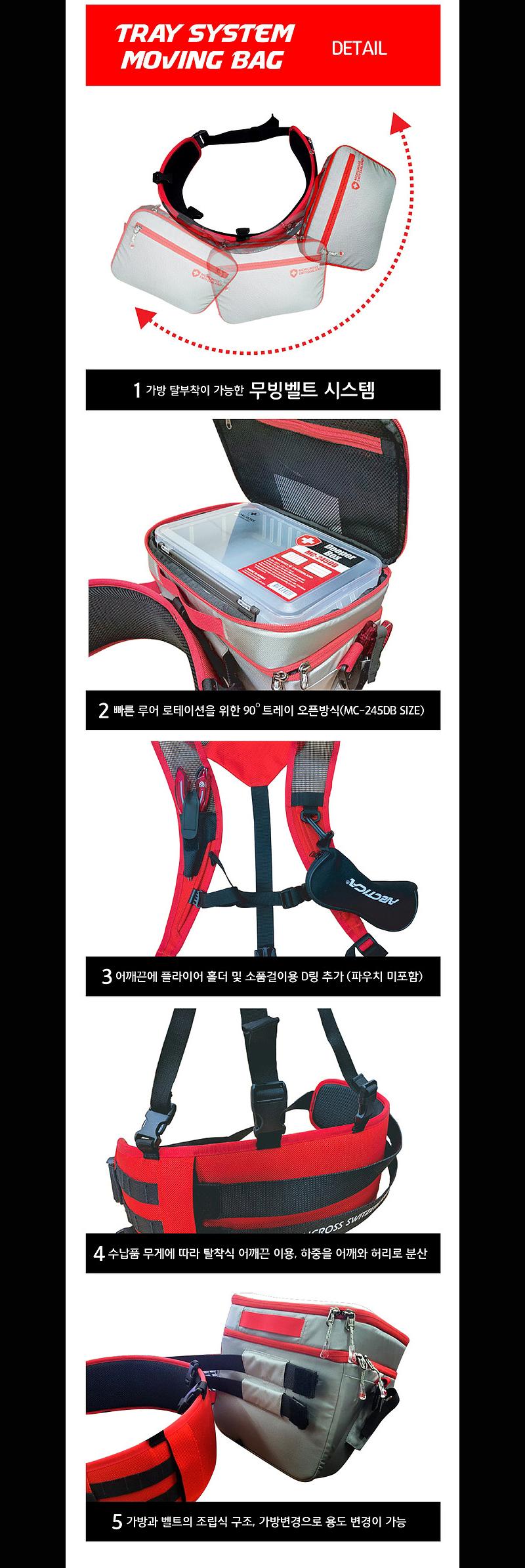 몽크로스 트레이시스템 무빙백 (MC-MB003) 트레이무빙백 루어가방 가방 낚시가방