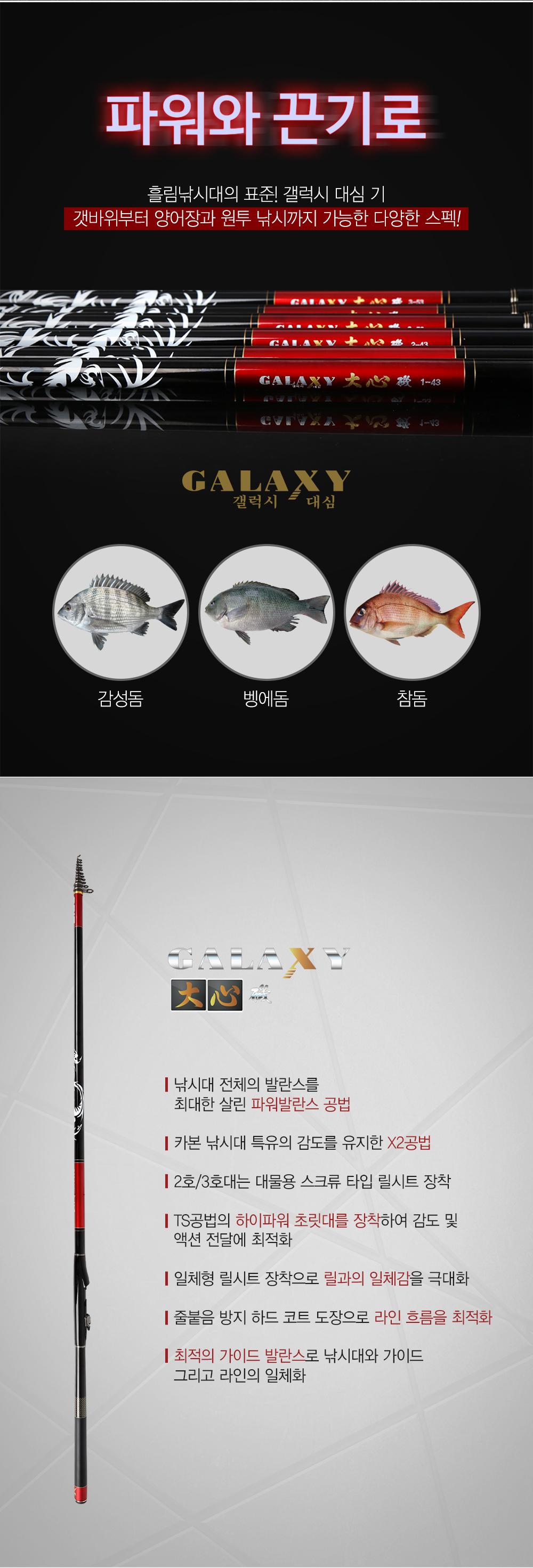 아피스 갤럭시 대심기 갯바위 릴 찌낚시대 (1년1회 50%무상보증) 겔럭시 갯바위 양어장 유료 원투 참돔 감성돔 벵에돔 고등어 학꽁치 잡어 릴낚시대 우끼스리 이소 iso