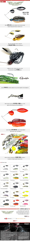 칸베이츠 블라스트 텐덤 1/2oz스피너베이트 배스 배스루어 배스미끼 배스낚시 하드베이트